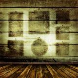 Viejo sitio con las paredes de madera viejas Foto de archivo libre de regalías