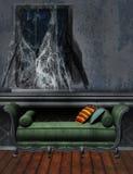Viejo sitio con los web de araña libre illustration