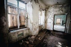 Viejo sitio espeluznante abandonado de la casa señorial Imagen de archivo