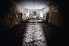 Viejo sitio espeluznante abandonado de la casa señorial Fotografía de archivo