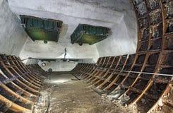 Viejo sitio subterráneo técnico olvidado abandonado Imagen de archivo libre de regalías