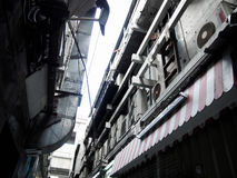 Viejo substreet en Bangkok Imagen de archivo libre de regalías