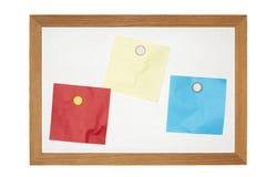 Viejo tablero de mensajes magnético Imagen de archivo libre de regalías