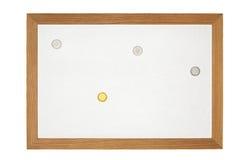 Viejo tablero de mensajes magnético Imágenes de archivo libres de regalías
