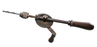 Viejo taladro de mano mecánico Fotografía de archivo