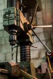 Viejo taladro industrial Fotos de archivo libres de regalías