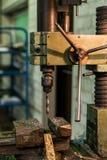 Viejo taladro industrial Imágenes de archivo libres de regalías