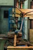 Viejo taladro industrial Fotografía de archivo