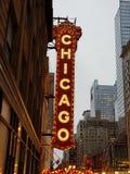 Viejo teatre del cine de Chicago en centro de la ciudad foto de archivo libre de regalías