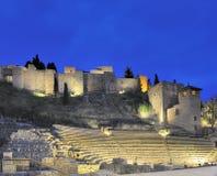 Viejo teatro romano en Málaga Foto de archivo libre de regalías