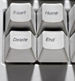 Viejo tipo cancelación de los claves de ordenador, extremo. Fotografía de archivo