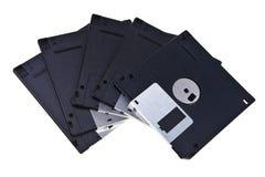 Viejo tipo discos blandos magnéticos. Foto de archivo libre de regalías