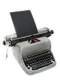 Viejo tipo programa de escritura de la vendimia Fotos de archivo libres de regalías