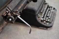 viejo tipo retro technolo manual tan clásico del vintage de la máquina del escritor Fotos de archivo