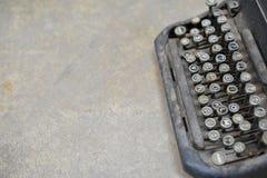 viejo tipo retro technolo manual tan clásico del vintage de la máquina del escritor Fotografía de archivo
