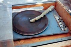 Viejo tocadiscos del vintage Fotos de archivo