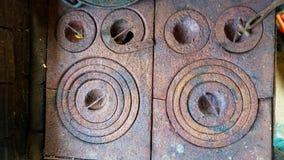 Viejo top de madera del horno Imagen de archivo libre de regalías