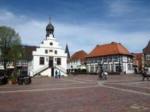 Viejo townhall en Lingen en Alemania Fotografía de archivo