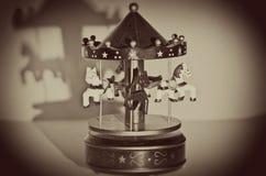 Viejo Toy Carousel Foto de archivo