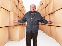 Viejo trabajador Foto de archivo libre de regalías