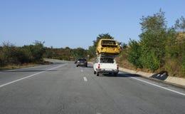 Viejo transporte del coche Imagen de archivo libre de regalías