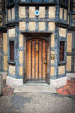 Viejo Tudor Door Fotos de archivo