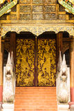 Viejo Ubosot Lanna Style en Wat Buak Krok Luang, Chiangmai  Foto de archivo libre de regalías