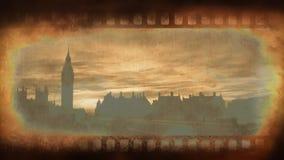 Viejo vídeo de la cinta de la película