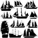 Viejo vector de la nave Foto de archivo libre de regalías