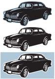 Viejo vector del coche Imagen de archivo libre de regalías
