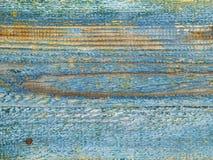 Viejo verde azul resistido de los tablones del fondo Fotos de archivo libres de regalías