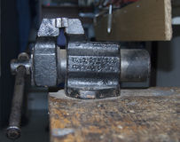 Viejo vicio del hierro fotografía de archivo