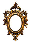 Viejo viejo marco de oro oval retro (No#12) Fotos de archivo libres de regalías