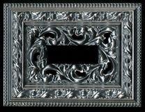 Viejo, vintage, marco antiguo aislado en fondo negro Foto de archivo libre de regalías
