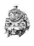 Viejo vintage retro del motor locomotor de vapor Fotografía de archivo