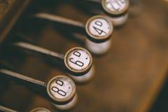 Viejo vintage Typemachine/teclado de la moda Imagen de archivo libre de regalías