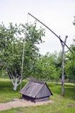 Viejo weel rural con barrido de madera Foto de archivo