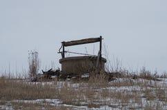 Viejo wel abandonado del agua Imagen de archivo