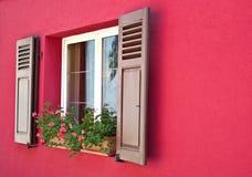 Viejo Windows de madera Fotos de archivo libres de regalías