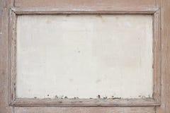 Viejo y resistido marco de madera marrón Imágenes de archivo libres de regalías