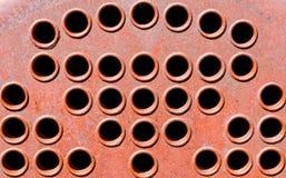 Viejos agujeros de respiradero de la maquinaria Imágenes de archivo libres de regalías