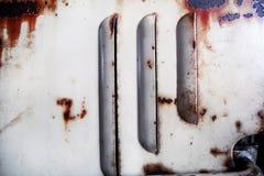 Viejos agujeros de ventilación del metal Foto de archivo