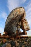 Viejos akranes de madera Islandia del barco de pesca imágenes de archivo libres de regalías