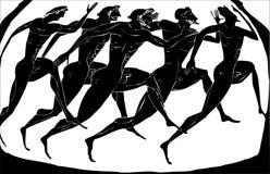 Viejos atletas de Grecia ilustración del vector
