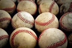 Viejos béisboles Imagen de archivo libre de regalías