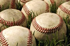 Viejos béisboles Imagenes de archivo