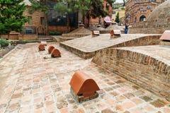 Viejos baños del azufre en Tbilisi, Georgia Imagen de archivo libre de regalías