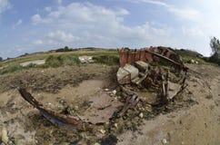 Viejos barco/ruina oxidados Foto de archivo libre de regalías