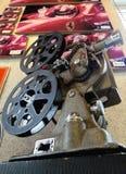 Viejos cámara de vídeo y bolid de la fórmula 1 Imágenes de archivo libres de regalías