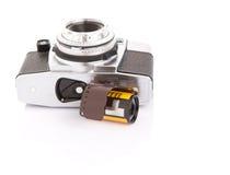 Viejos cámara y carrete de película análogos VII Imágenes de archivo libres de regalías